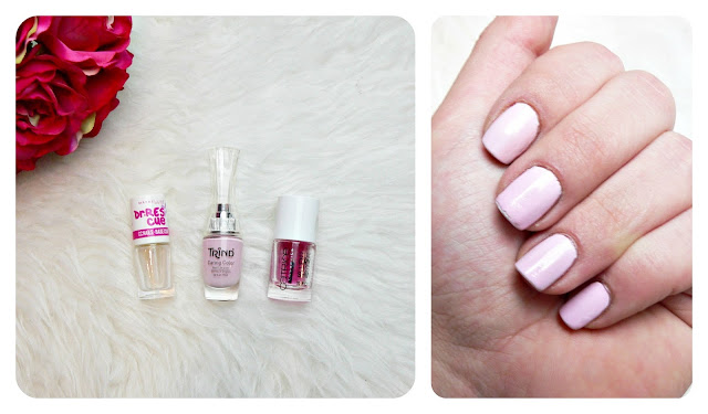 nails of the day trind caring color las dalias catrice topcoat maybelline cc nails base coat