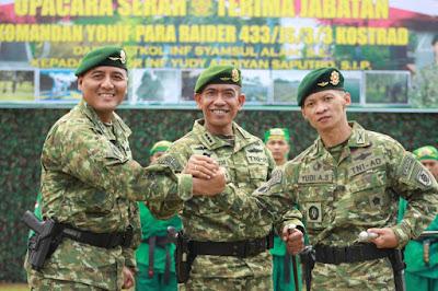 Danyonif Para Raider 434/JS/3 Divif 3 Kostrad Diserah Terimakan