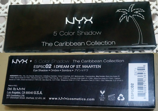 NYX I Dream of St. Marteen 5-Color Eye Shadow Palette
