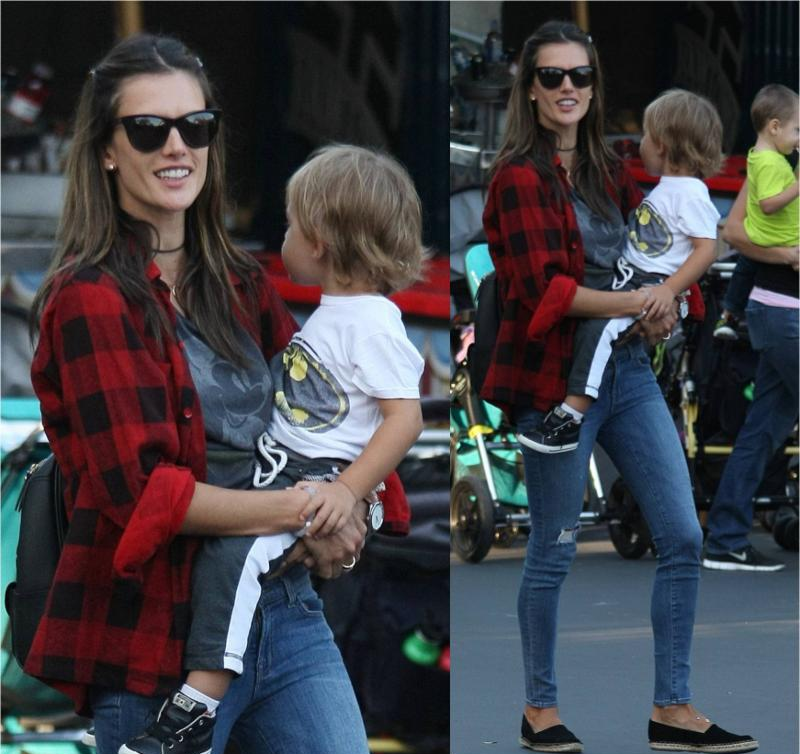 Alessandra Ambrosio at Disneyland January 2015