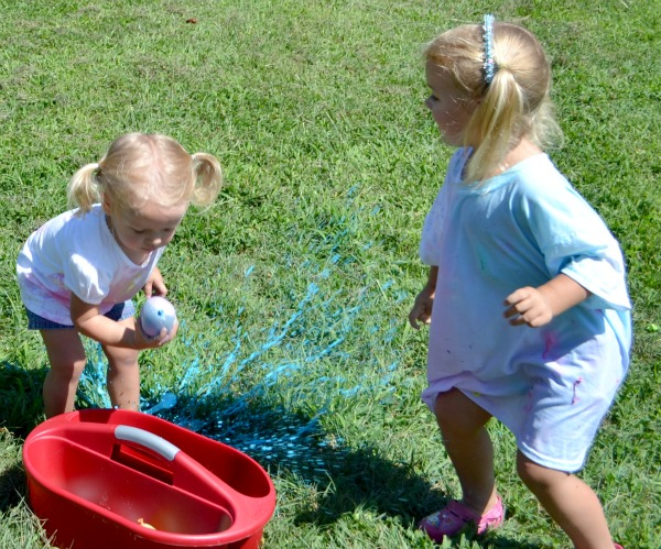 water balloon paint war