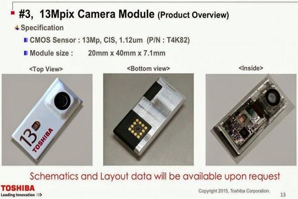 Módulos de câmera desenvolvidos pela Toshiba