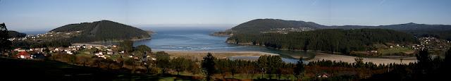 fotografía panorámica playa vilerube en valdoviño