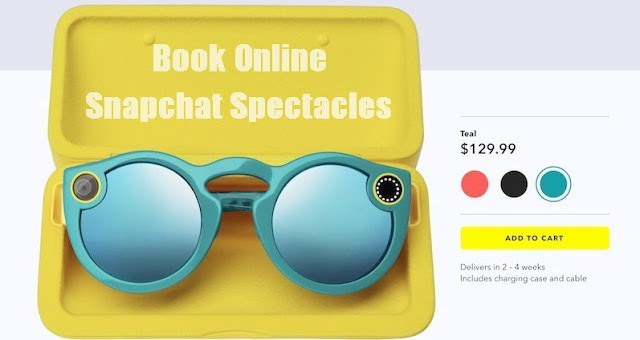 Book Snapchat Spectacles Online