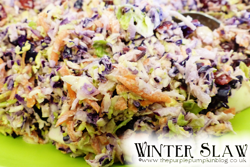Winter Slaw with Cranberries & Macadamia Nuts