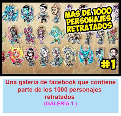 Galeria 1 1000 personajes en Facebook