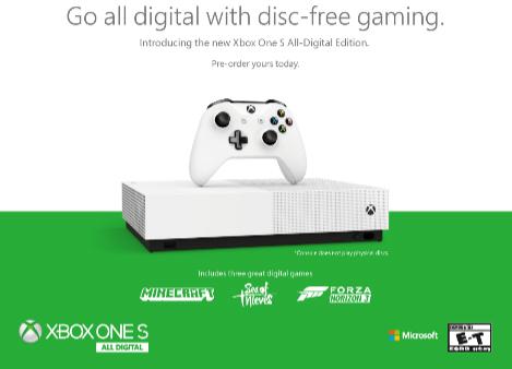 الإعلان رسميا عن جهاز Xbox One S بدون قارئ أشرطة و سعر مناسب جدا