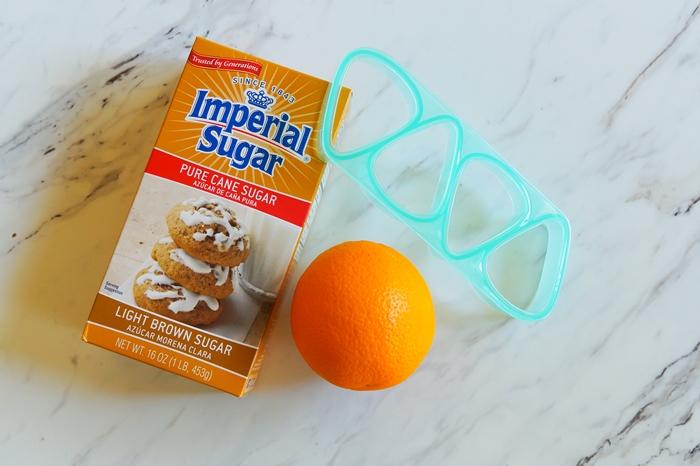 brown sugar and orange cut-out cookies