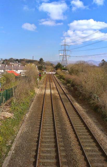 The railway line at Llanfair PG, Anglesey