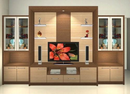 Desain lemari pajangan minimalis modern rumah mungil