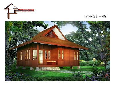 Desain Rumah Berbahan Kayu