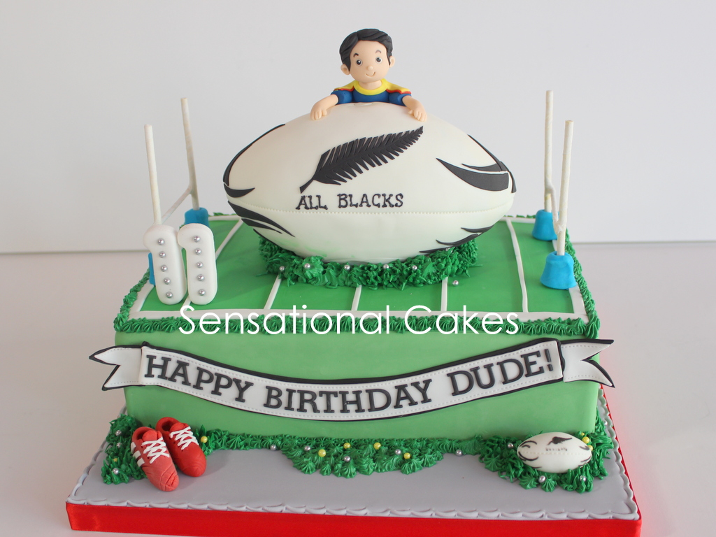 The Sensational Cakes Rugby American Football Theme 3d Cake