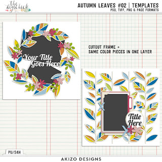 Autumn Leaves 02 by Akizo Designs