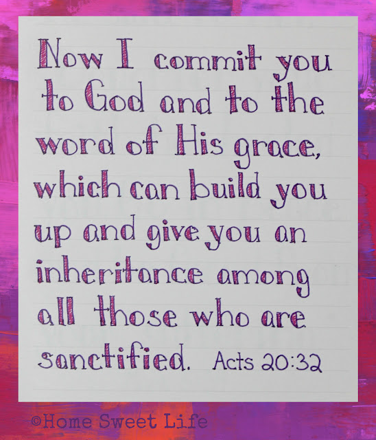 Scripture Writing, Acts 20:32