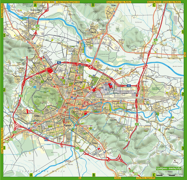 Mapa de Liubliana – Eslovênia