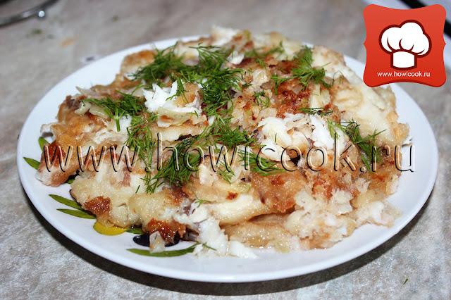 Жареная рыба с луком рецепт