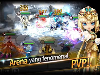 pertarungan para summon di arena langit