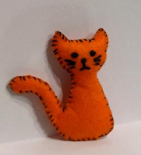orange felt cat