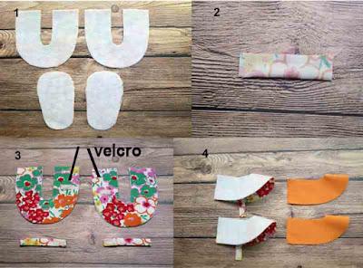 Tutorial 2 dan cara mudah membuat sepatu bayi dari kain perca