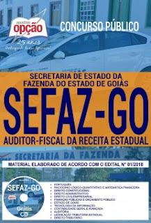 apostila concurso SEFAZ GO 2018 auditor-fiscal