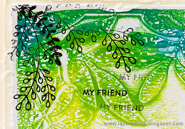Layers of ink - Gel Printed Leaf Frame Tutorial by Anna-Karin Evaldsson