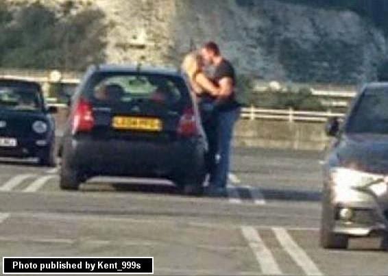 Photos: Couple caught having sex in a car park in Kent