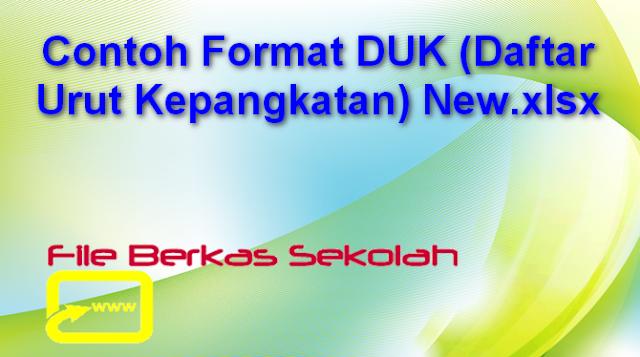 Contoh Format DUK (Daftar Urut Kepangkatan) New.xlsx
