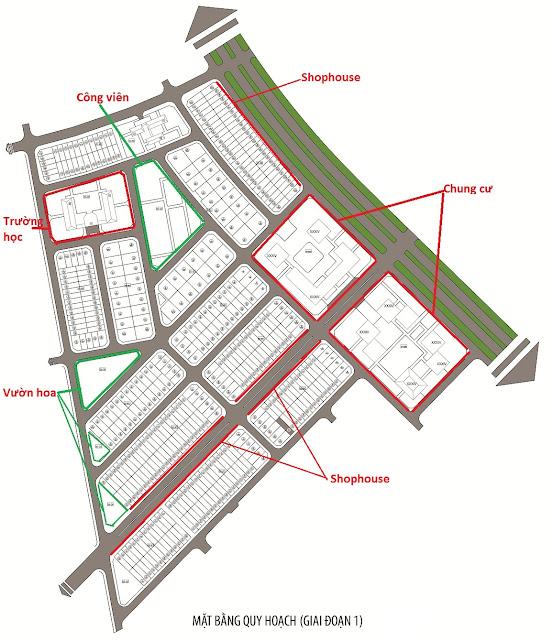 Mặt bằng quy hoạch toàn khu dự án The Green Daisy