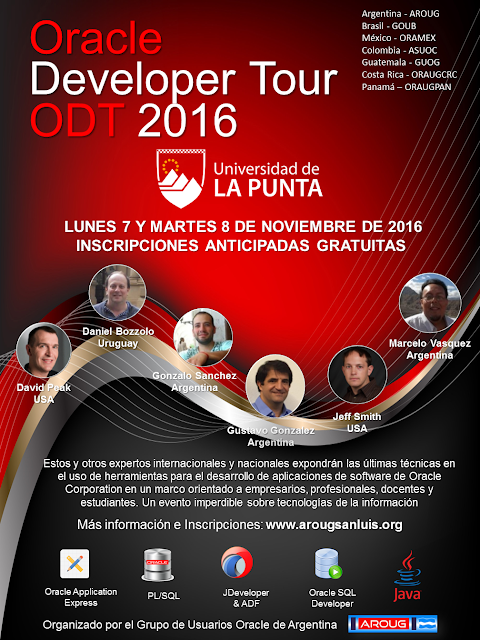 Las inscripciones al Oracle Developer Tour 2016 abrirán pronto!