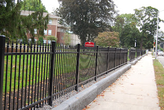 wrought iron fencing was added to Dean College