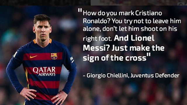 Defender Chiellini about Messi