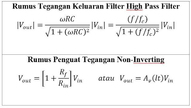 High Pass Filter – Pengertian Filter Aktif Dan Pasif Menggunakan Resistor, Kapasitor Dan Op-Amp