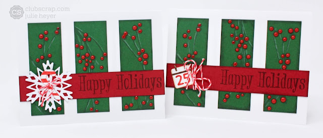 12/18 Card Sketch Challenge cards Holiday set #clubscrap #sizzix #emboss #ideadeck