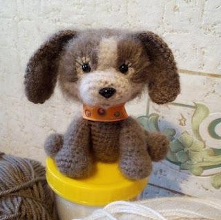 Собачка игрушка крючком
