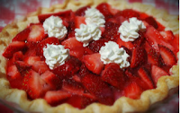 Assorted Christmas Dessert Recipes Abroad - Strawberry Christmas Pie