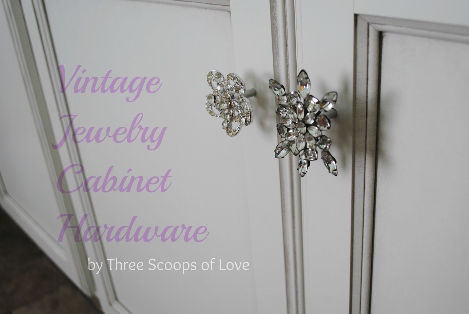 Three Scoops of Love: Vintage Jewelry Cabinet Hardware