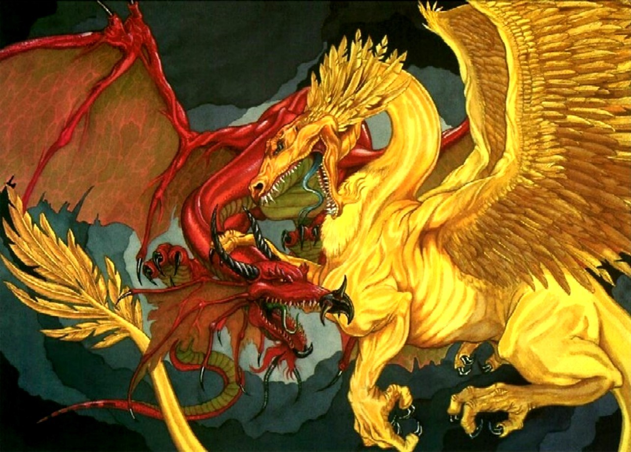 Red Dragon Vs Gold Dragon