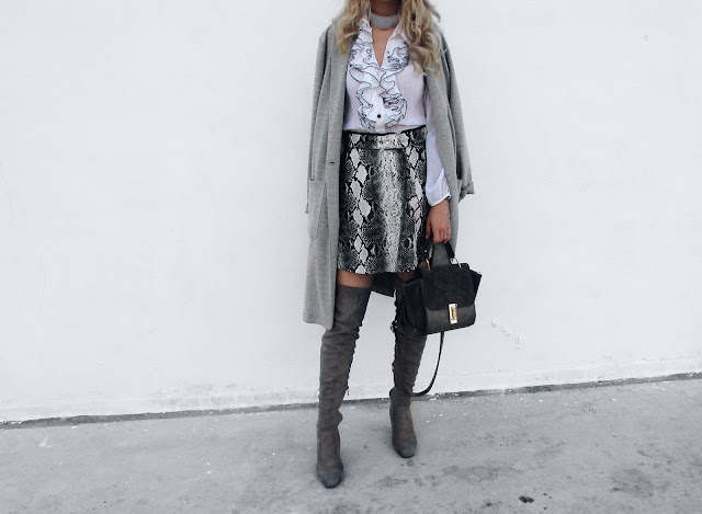 thigh high boots grey look