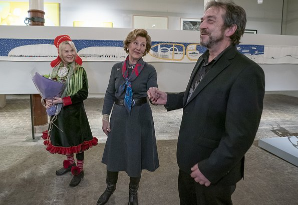 "official opening of the exhibition ""Histories. Three generations Sámi artists"" at Queen Sonja Art Stable"