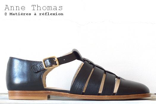 sandales Anne Thomas noires