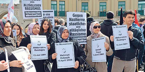 Protesting Turks in Germany