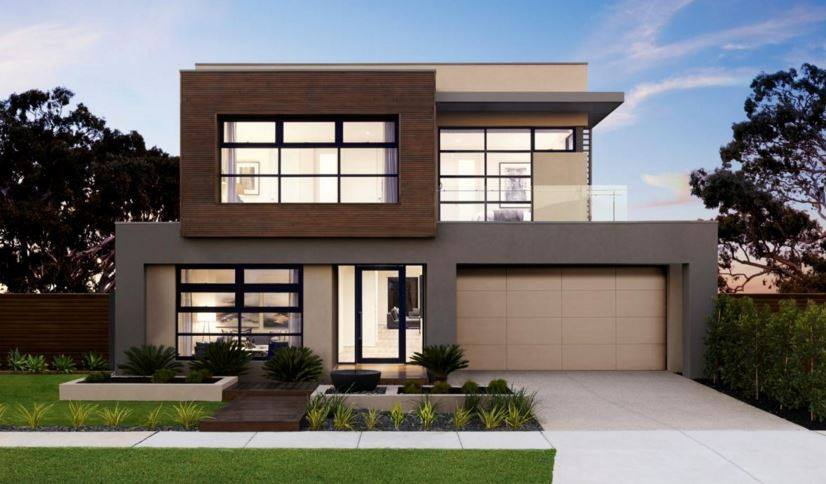 Modern house facades inspirations for those looking to Small double story house designs