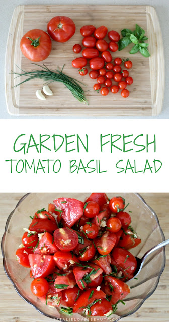 Garden Fresh Tomato Basil Salad Recipe