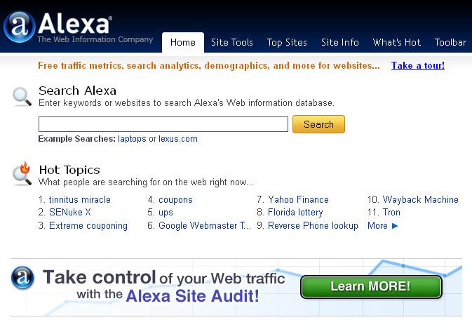 alexa site information