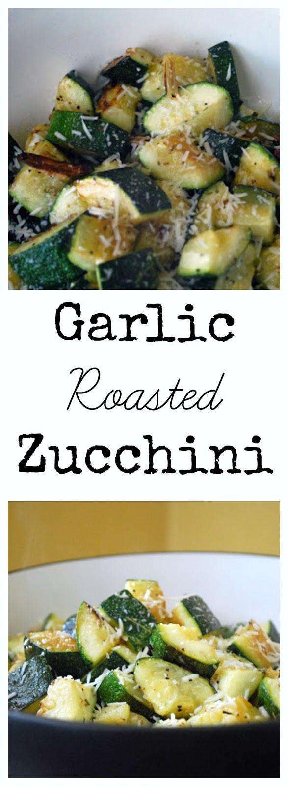 garlic roasted zucchini veggie side dish