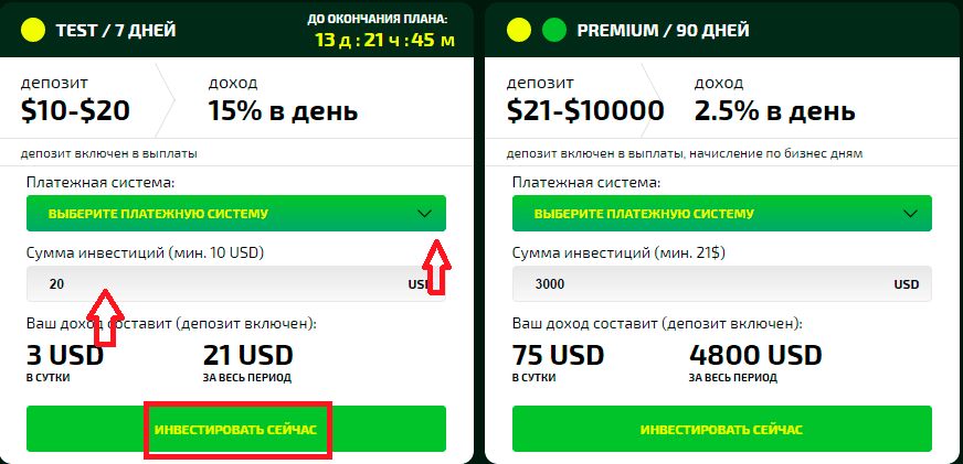 Сумма инвестиций в ClickCredit