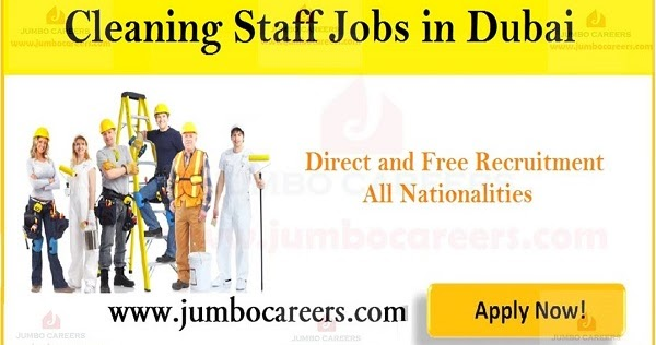 Cleaner Jobs in Dubai 2019 | Cleaning Staff Jobs in UAE