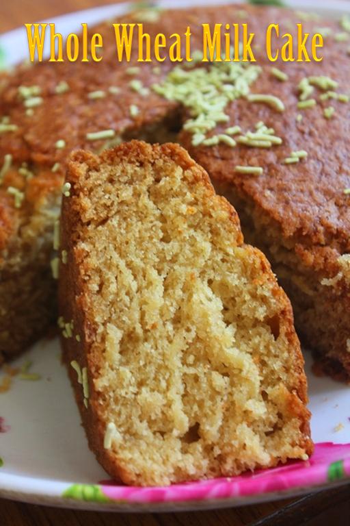 Eggless Whole Wheat Milk Cake Recipe Yummy Tummy