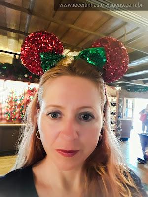 Orelhas da Minnie de Natal!