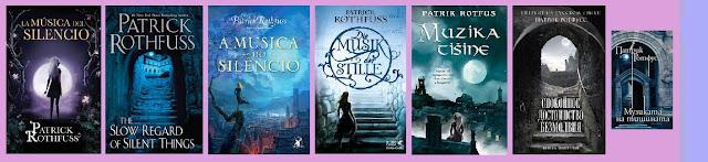 Portadas de la novela corta de fantasía La música del silencio, de Patrick Rothfuss